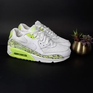 Nike Air Max 90 Premium White Neon Green 7.5